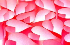 Fond de papier rouge de coeurs Images stock