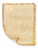 Fond de papier réutilisé par cru Photographie stock