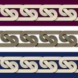Fond de papier sans couture de cadre de noeud Image stock