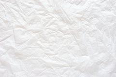 Fond de papier de texture chiffonné par blanc Photo libre de droits