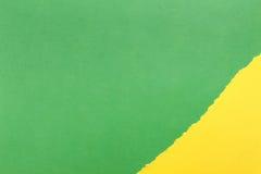 Fond de papier Vert et jaune images stock