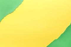 Fond de papier Vert et jaune photographie stock libre de droits