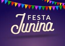 Fond de partie de célébration de junina de Festa Conception de carnaval de vacances de festival du Brésil juin Image stock