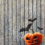 Fond de partie de Halloween avec le potiron Images libres de droits