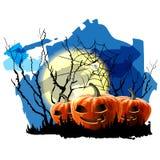 Fond de partie de Halloween avec le potiron Image libre de droits