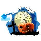 Fond de partie de Halloween avec le potiron Image stock