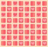 Fond de pastel de coeur Photo libre de droits