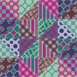 Fond de patchwork Images libres de droits