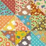 Fond de patchwork avec différents modèles Photo libre de droits