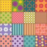 Fond de patchwork avec différents modèles Image libre de droits
