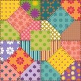 Fond de patchwork avec différents modèles Photos stock