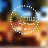 Fond de paysage d'automne brouillé par vecteur Images stock