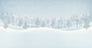 Fond de paysage d'hiver de Noël. R. illustration stock