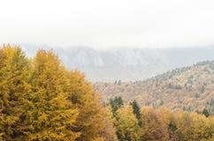 Fond de paysage de montagne d'automne Photographie stock libre de droits