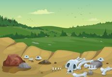 Fond de paysage de montagnes illustration stock