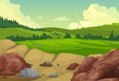 Fond de paysage de montagnes illustration de vecteur
