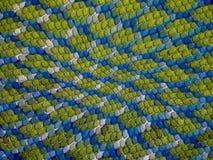 Fond de peau de lézard bleu et vert Images stock