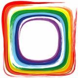 Fond de peinture d'éclaboussure d'abrégé sur cadre de couleur d'arc-en-ciel d'art Image stock