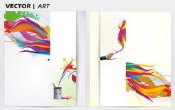 Fond de peinture d'art Images libres de droits