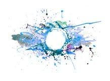 Fond de peinture de jet abstraite Photos libres de droits
