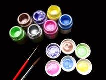 Fond de peinture de tissu photos stock