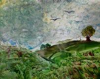 Fond de peinture de Vax illustration de vecteur