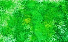 Fond de peinture vif romantique argenté vert d'aquarelle, fond de peinture abstrait d'aquarelle photographie stock libre de droits