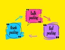 Fond de pensée positif de vecteur, image colorée abstraite, motivation illustration stock