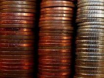 Fond de pièce de monnaie Photo stock