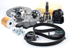Fond de pièces d'auto Hub, pompe, protections de frein, filtre, bel de synchronisation photos libres de droits