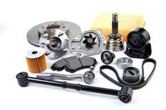 Fond de pièces d'auto Hub, pompe, protections de frein, filtre, bel de synchronisation photo libre de droits