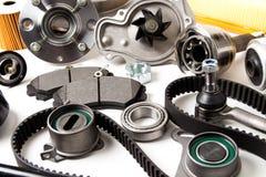 Fond de pièces d'auto Hub, pompe, protections de frein, filtre, bel de synchronisation image libre de droits