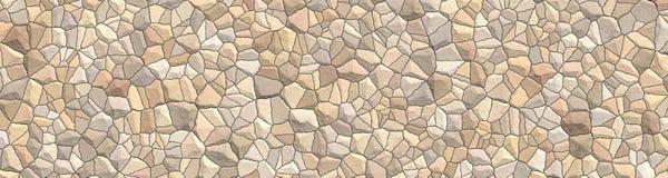 Fond de pierres décoratives de mosaïque Intérieur de salle de bains et de cuisine Modèle ornemental abstrait Image panoramique illustration de vecteur