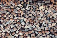 Fond de pile de bois de chauffage Photo libre de droits