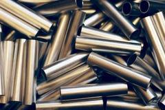 Fond de pipe en métal Photographie stock