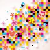 Fond de Pixel d'amusement Photo stock