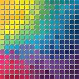 Fond de pixel - petites places avec l'ombre - arc-en-ciel polychrome de spectre coloré Image stock