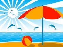 Fond de plage Photographie stock libre de droits