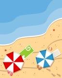 Fond de plage d'été Photos libres de droits