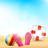 Fond de plage d'été Illustration Stock