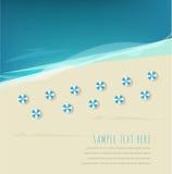 Fond de plage d'été Photographie stock