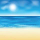 Fond de plage de sable Photos libres de droits