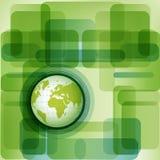 Fond de planète d'Eco Photo stock