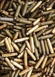 Fond de plan rapproché de cartouches de fusil de chasse Images libres de droits