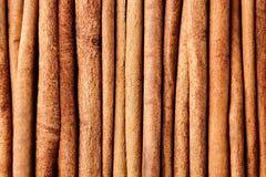 Fond de plan rapproché d'épice de bâtons de cannelle Images stock