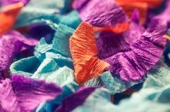 Fond de plan rapproché de papier coloré de coupe Photographie stock libre de droits
