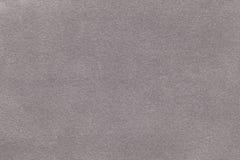 Fond de plan rapproché gris-clair de tissu de suède Texture mate de velours du textile argenté de nubuck Photo stock