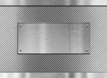 Fond de plaque métallique industriel Photographie stock libre de droits
