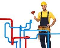 Fond de plombier et de pipe photographie stock libre de droits