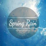 Fond de pluie de ressort Photographie stock libre de droits